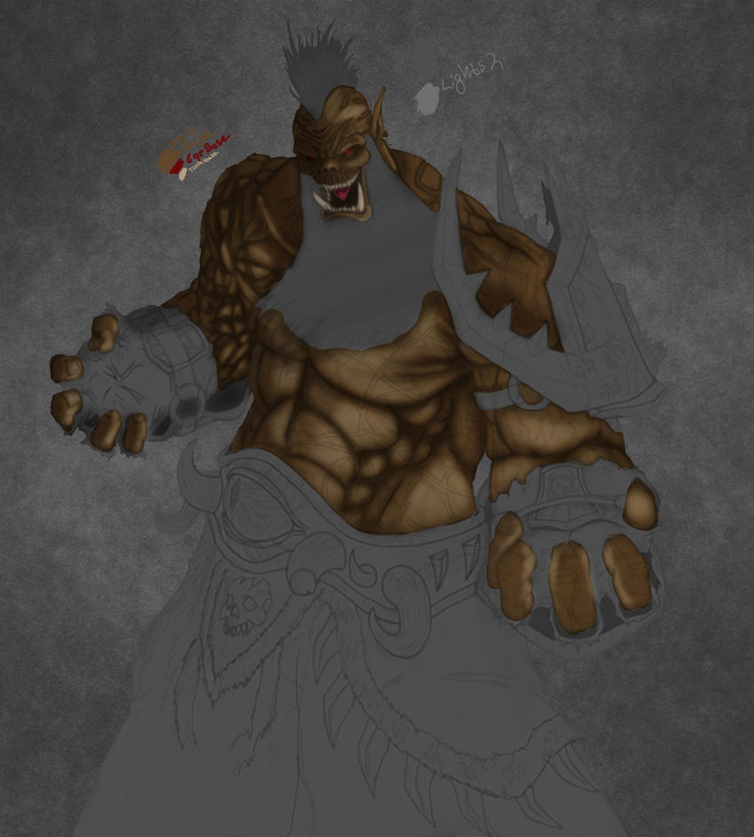 Orc Warlock W.I.P by Shamblin85