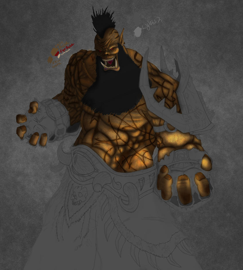 Orc Warlock W.I.P 2 by Shamblin85