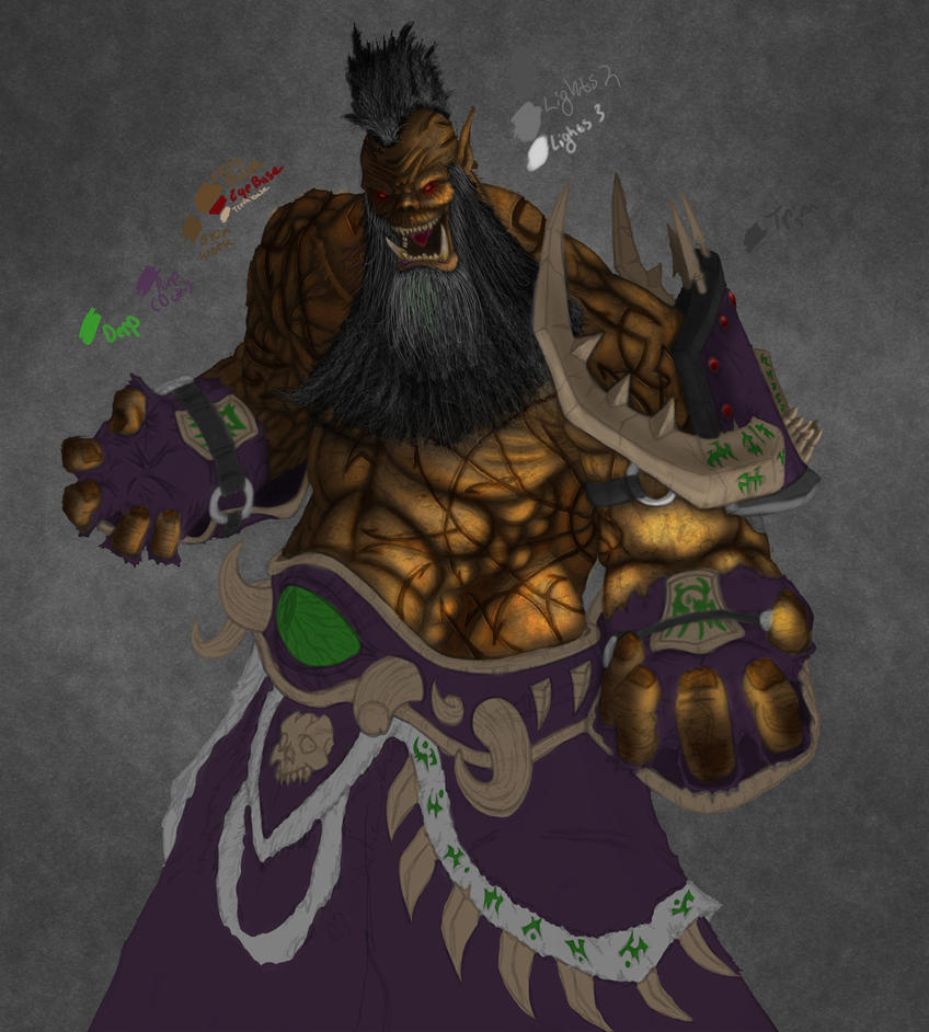 Orc Warlock W.I.P 3 by Shamblin85