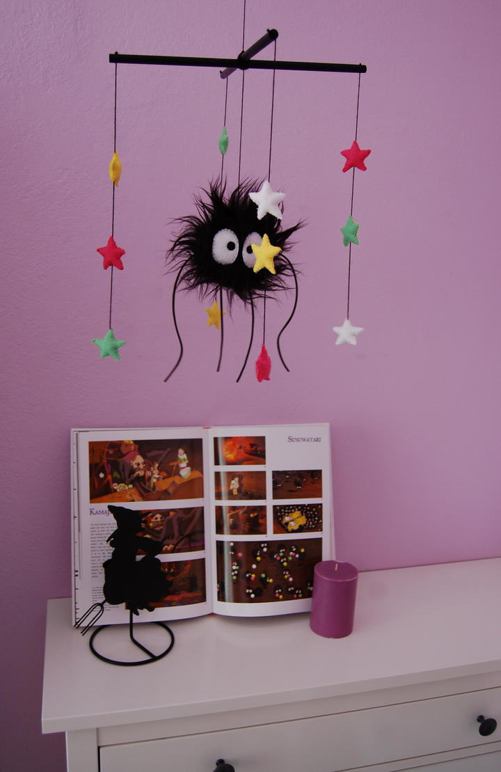 Susuwatari mobile by ThisisHalloweenTown