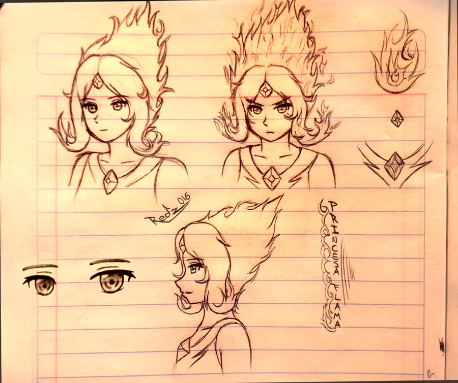 Princesa Flama -Sketch by Redz016