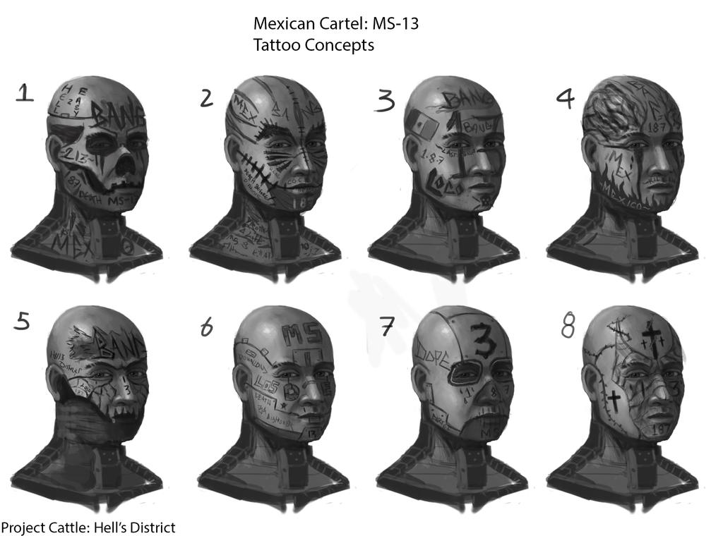 ms13 tattoo concepts by carlspringer on deviantart