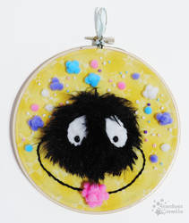 Soot Sprite Candy Pile - Embroidery Hoop