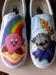 kirby and meta knight shoes