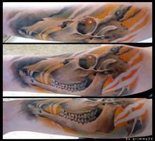Deer skull by grimmy3d