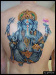 Ganesha tattoo WIP