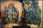 Ganesha tattoo WIP 8