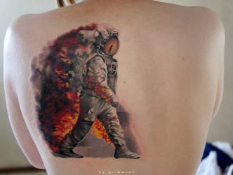 Astronaut in fire WIP