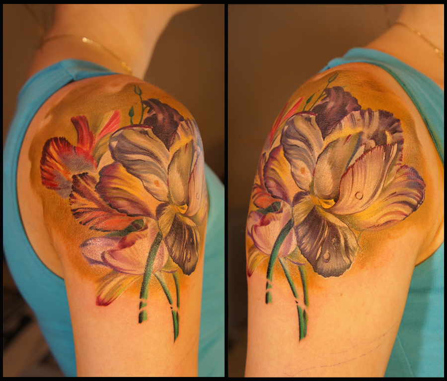 Flowers sleeve begins by grimmy3d