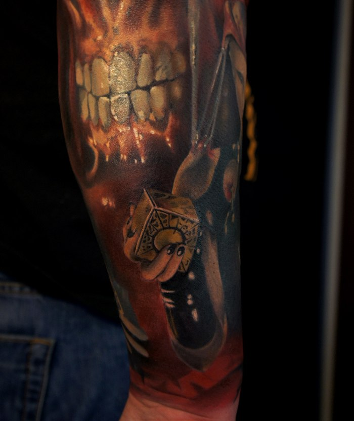 Hellraiser movie halfsleeve detail by grimmy3d