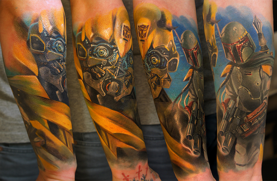 Characters sleeve WIP by grimmy3d