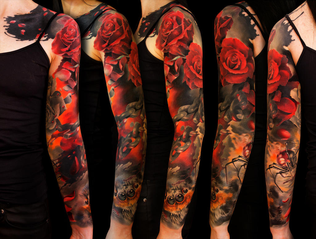 Rose spiders by grimmy3d on deviantart for Blue blood tattoo