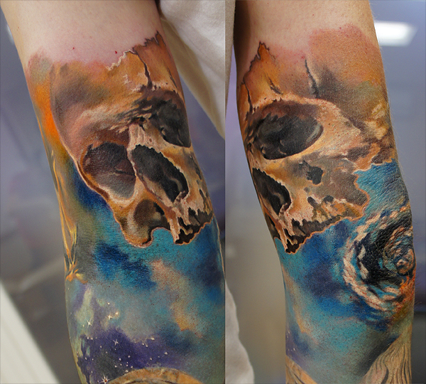 Skull closeup by grimmy3d
