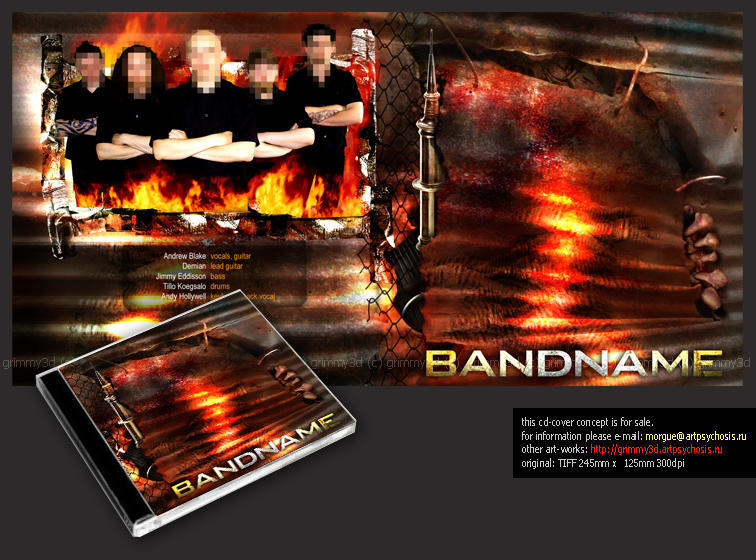 CD design concept 4 sale by grimmy3d