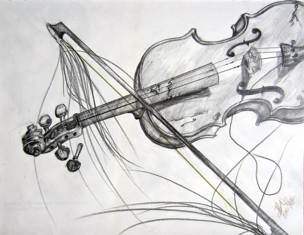 violin and bow sketch wwwpixsharkcom images