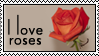 Stamp I love roses by Cathorse