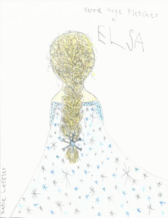 Carrie Hope Fletcher as Queen Elsa by Inufan330