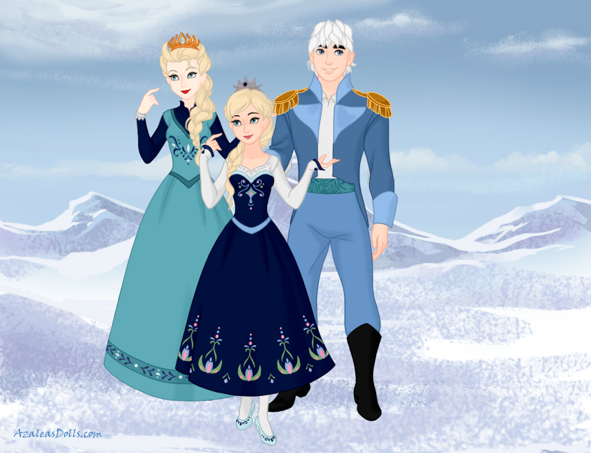 Elsa, Jack and Daughter by Inufan330