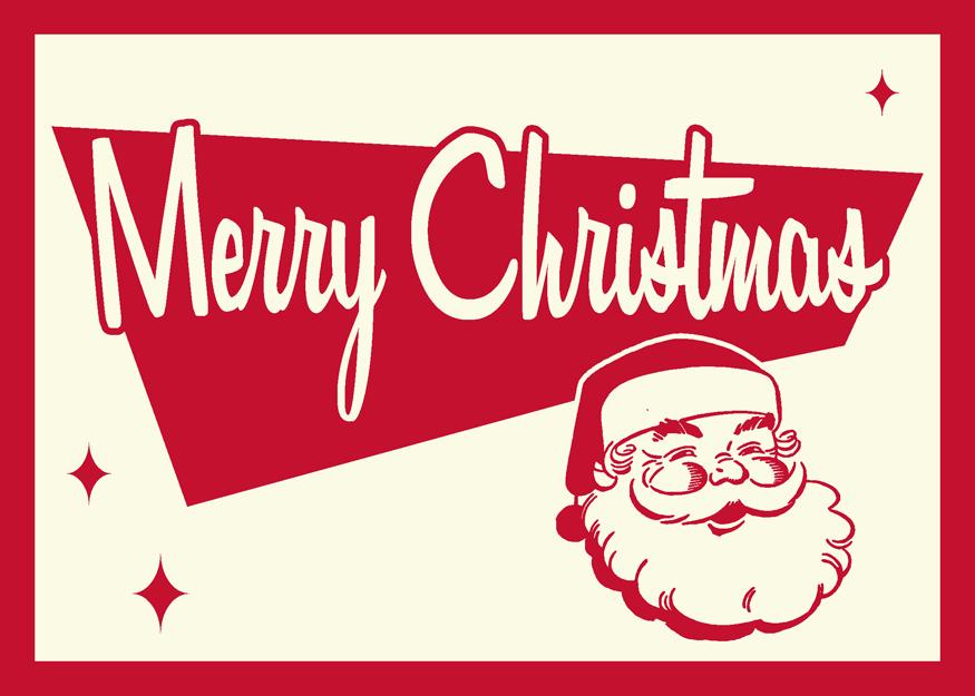 Retro Christmas Card: Santa by 66Robert on DeviantArt
