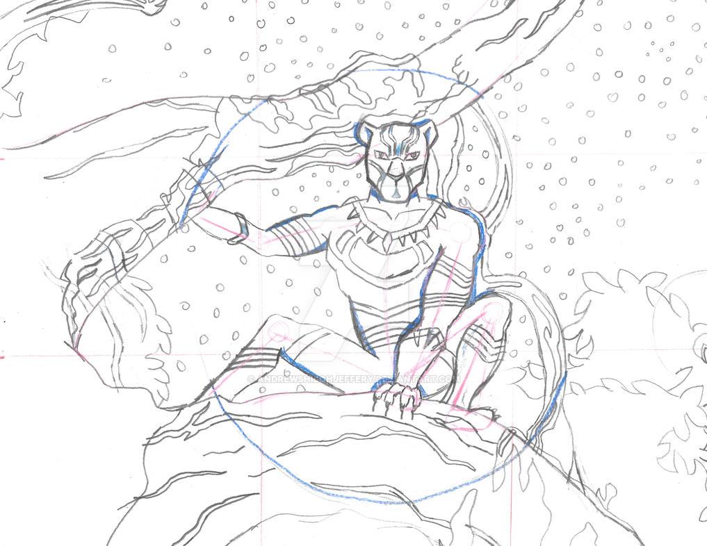 Black Panther Screenshot Challenge Sketch by AndrewShilohJeffery