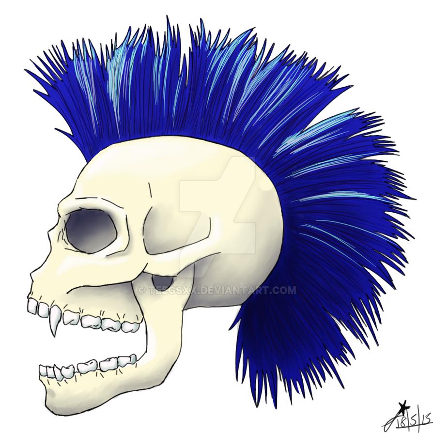 Punk Skull by Teegsxx