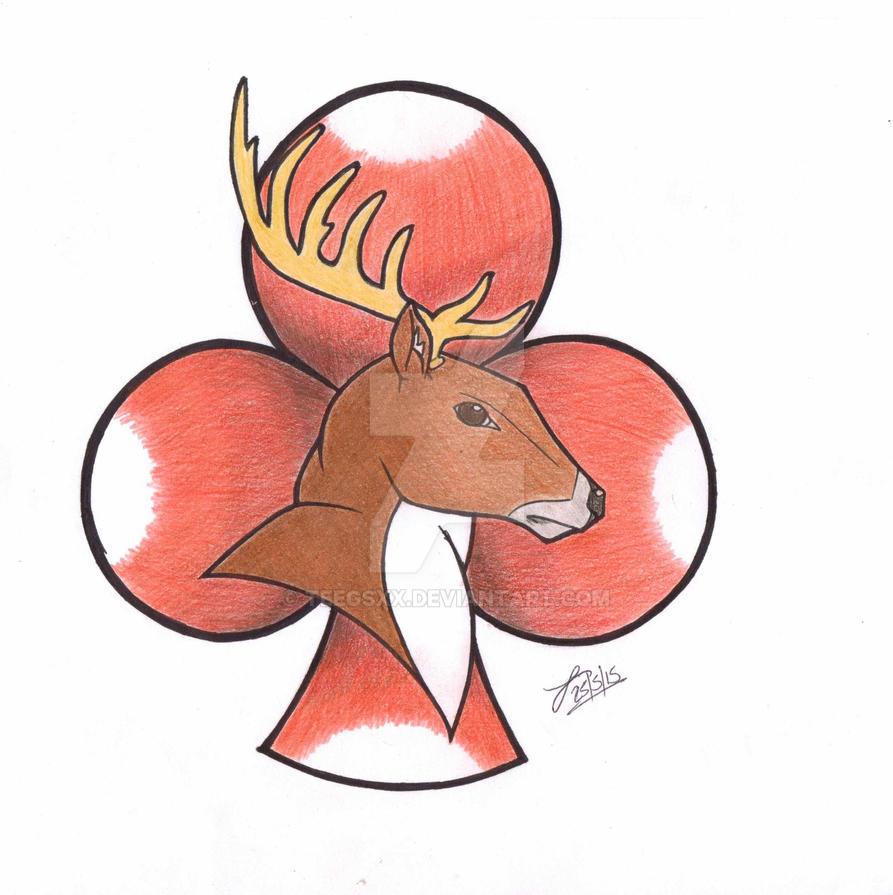 Deer and Club by Teegsxx