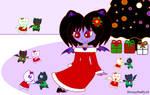 Christmas Bats by HoneyBatty16