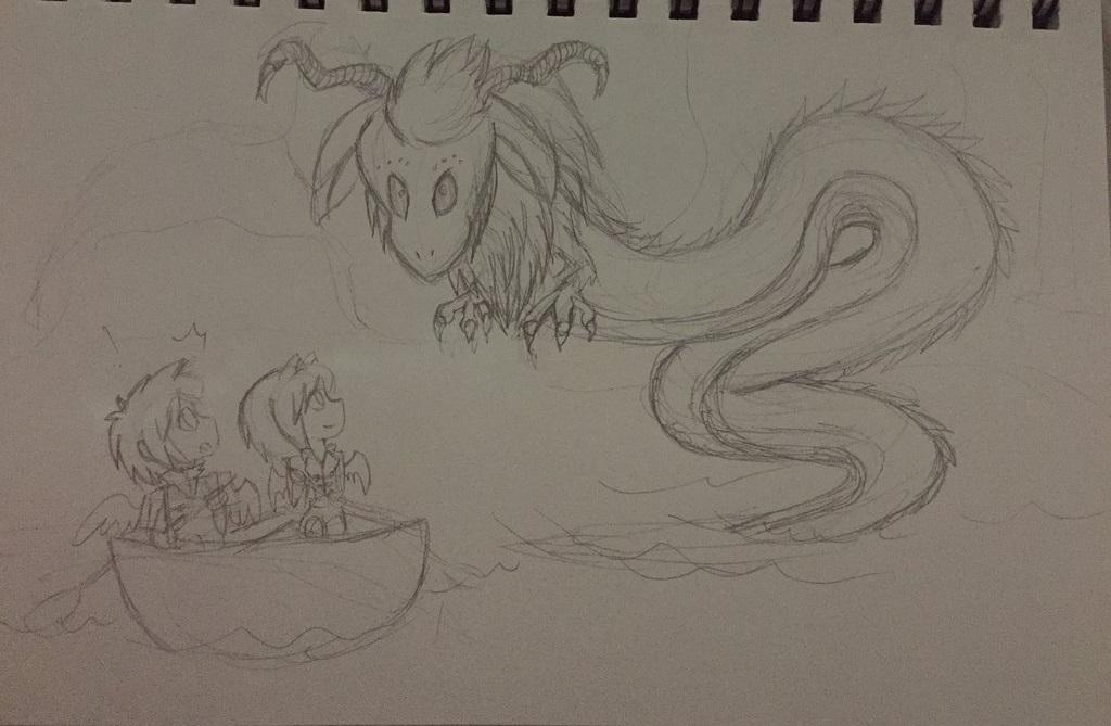 HoneyBatty, Noah and the Dragon (work on progress) by HoneyBatty16