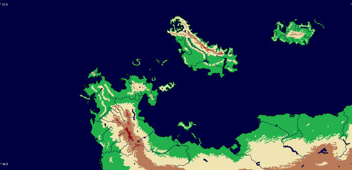 Map 34 Topography with Rivers