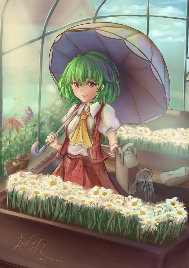 [Fanart] Yuuka's Greenhouse   +Speedart by hellfire153