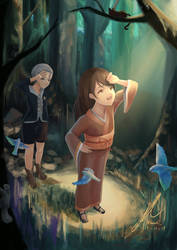 Heru and Eli Enter the Forest