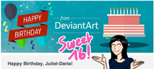 Sweet 16 Birthday!