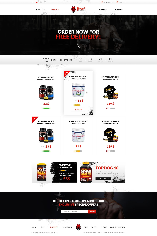 Supplement Store - TopDogNutrition.co.nz by DizzePL