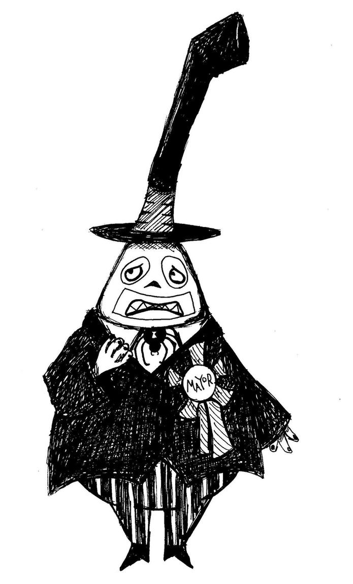 Nightmare Before Christmas Mayor Sad Face The sad faced mayor by