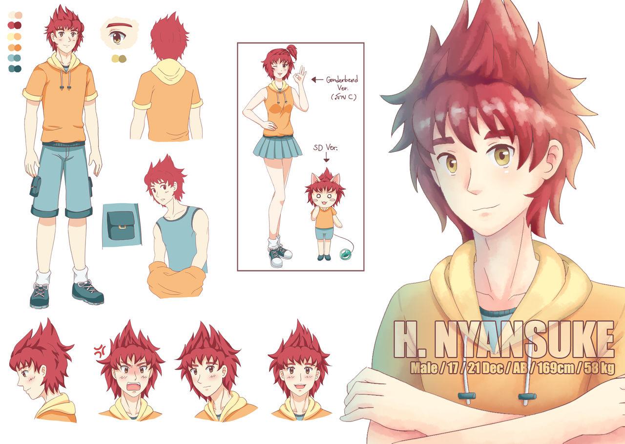 [OC] H. Nyansuke : Character Sheet and Profile