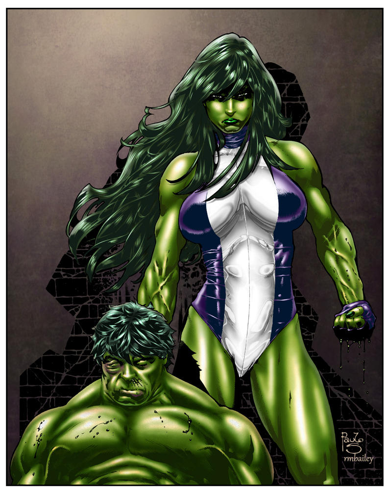She Hulk By Paulo Siqueira and RBailey by richmbailey