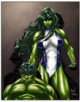 She Hulk By Paulo Siqueira and RBailey