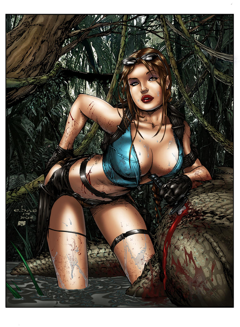Tomb Raider Cleavage by richmbailey