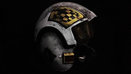 X-Wing Helmet Wallpaper - Biggs