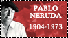 Pablo Neruda Stamp by k-nelo