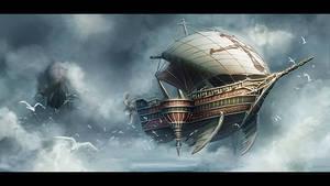 Airship by mrainbowwj