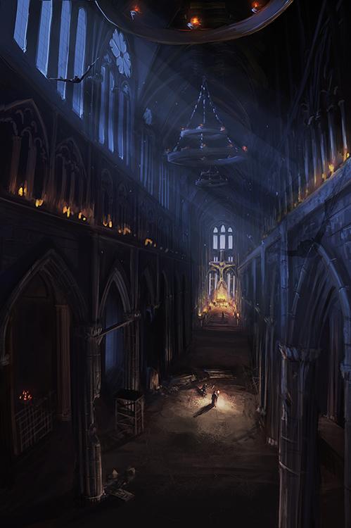 Dark Church By Mrainbowwj