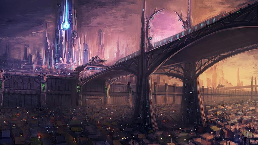 modern city vs slums by mrainbowwj