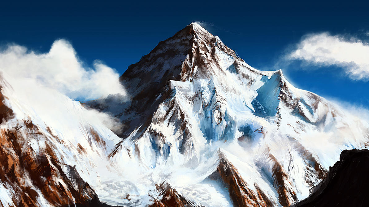 snow mountain by mrainbowwj on DeviantArt
