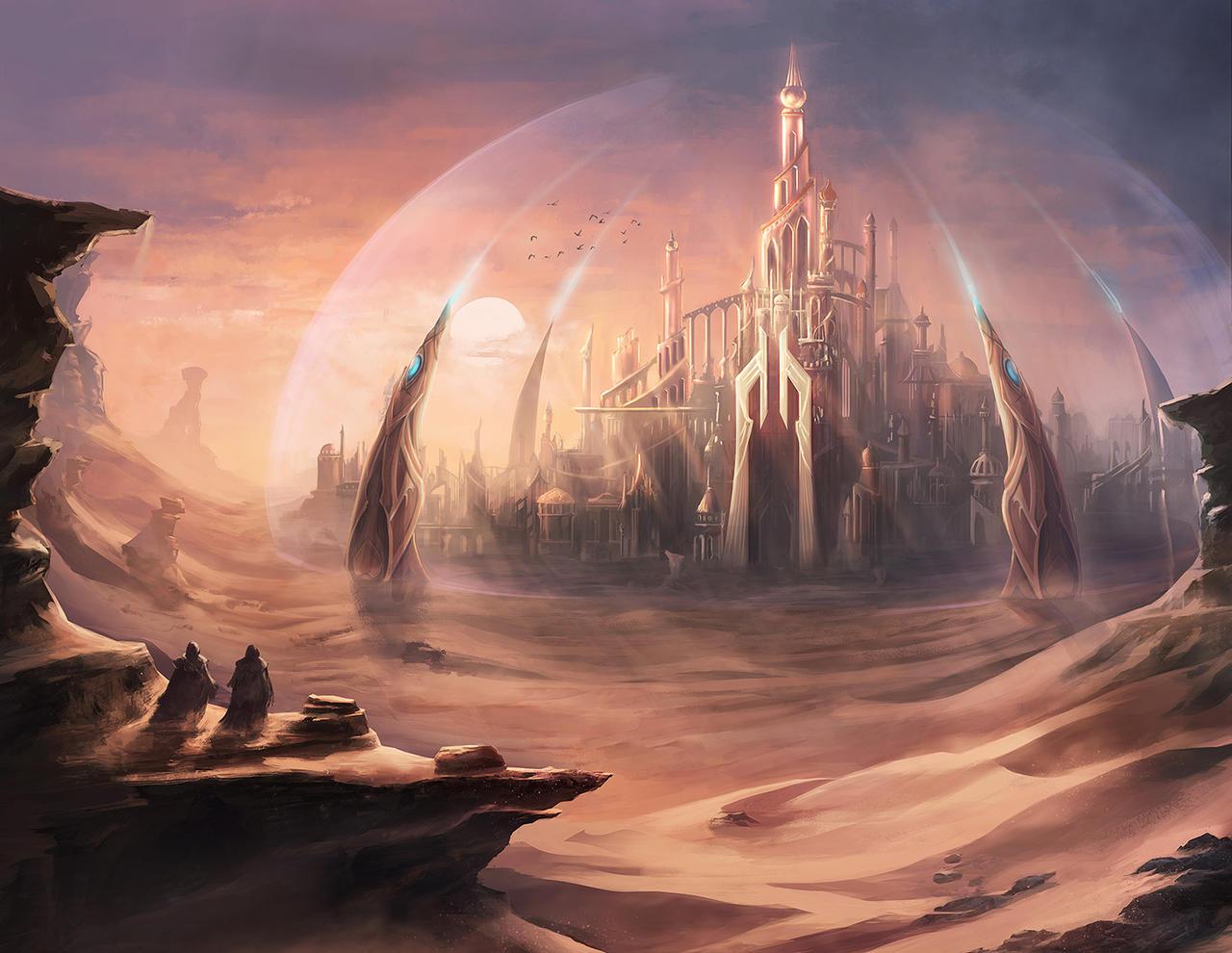 Desert City by mrainbowwj