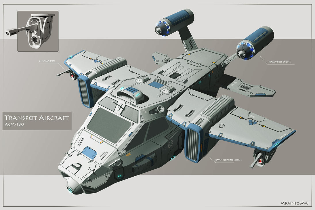 Aircraft Concept ACM-130 by mrainbowwj
