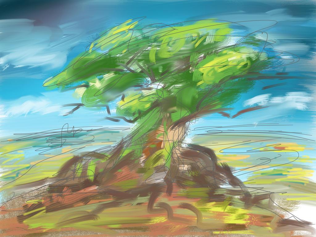 SKETCH A TREE by mrainbowwj