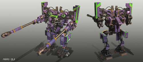 Code 51 Mech design B-3 by mrainbowwj