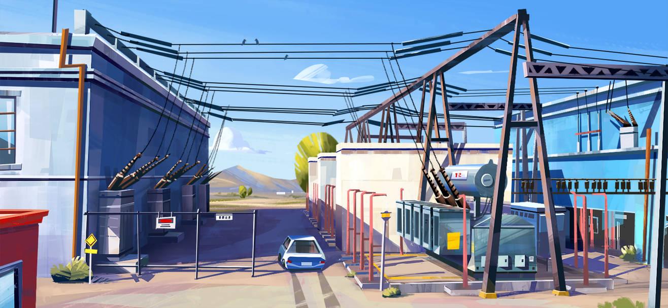Power Station 01 by mrainbowwj