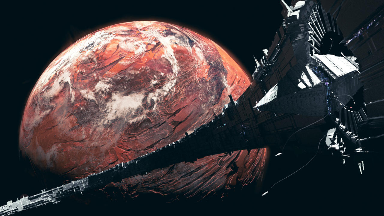 20210830 The red crinkled planet